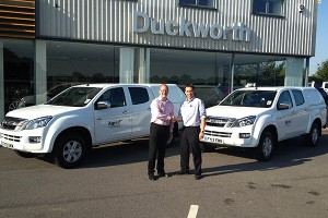 Trevor-Coultan-Recieving-New-Isuzus-From-Duckworths-